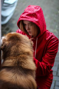 Red | The Brave Rainy Day Fashion, Hiking Gear, Hipster Fashion, Rain Wear, Brave, Rain Jackets, Raincoat, Winter Hats, Women Wear