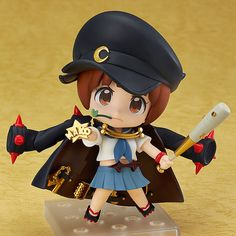 The Fight Club President! From the anime series 'KILL la KILL' comes a Nendoroid of Mako Mankanshoku wearing her Fight Club-Spec Two-Star Goku Uniform! Chibi, Nendoroid, Anime Comics, Anime Figures, Anime Merchandise, Anime, Cartoon, Anime Figurines, Nendoroid Anime