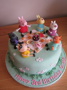 Grace's Peppa Pig cake   Vanilla sponge 3rd birthday cake wi…   Flickr
