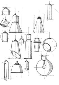 Desk lamp conc... Industrial Design Sketches ...