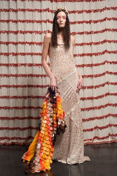 A shiny maxi from Chris Benz for spring 2013