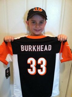 Jack Hoffman ready to support former Husker Rex Burkhead who is now with the Cincinnati Bengals. Who dey!