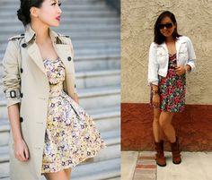 moda evangélica: vestido florido com jaqueta