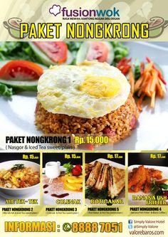 poster menu fusion wok