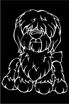 Old English Sheepdog Decal Dog