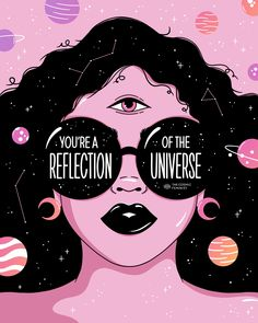 Feminist, spiritual and Empowering apparel and art. Cosmic Feminism refers to my fascination with the galaxies and my support for women's rights on a cosmic proportion! Witch Aesthetic, Aesthetic Art, Eye Illustration, Illustrations, Illustration Artists, Eye Painting, Hippie Art, Posca, Eye Art