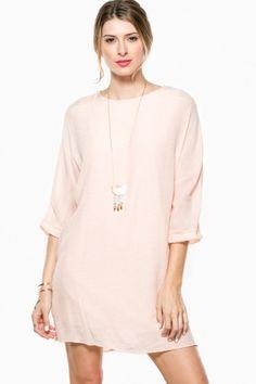 Lanie Shift Dress in Peach