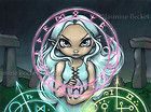 Jasmine Becket-Griffith art print SIGNED Casting the Runes wiccan witch pagan  on eBay for $13.99