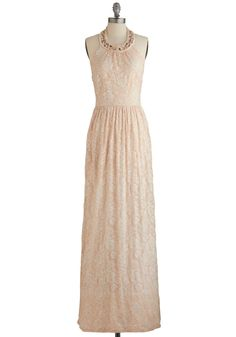 Rise Above the Rest Dress. Of all the gowns in your style repertoire, this light-peach, floor-length frock emerges as the most elegant. #pink #prom #wedding #bridesmaid #modcloth