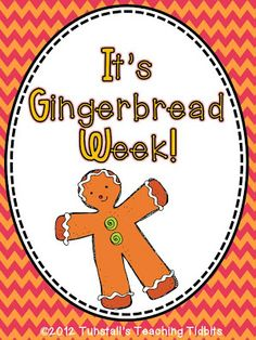 Literacy Unit for Gingerbread Week!  6 Cute Reading Responses  6 Literacy Activities/Centers