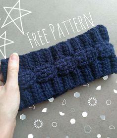 Cable Crochet Ear Warmer | Free Crochet Pattern| The Snugglery Blog
