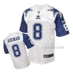 http://www.xjersey.com/nike-cowboys-8-troy-aikman-white-throwback-elite-jersey.html Only$40.00 #NIKE COWBOYS 8 TROY AIKMAN WHITE THROWBACK ELITE JERSEY Free Shipping!