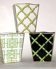 Dana Gibson Bamboo Wastebaskets  #DanaGibson #BambooWastebaskets #StylishTrash