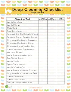 In the Organize eBook, you can get this adorable printable that will help you clean.