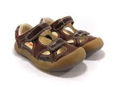 Boy/Girl Sandals, Brown, Flexible Sole (Toddler/kid/children) Non-squeaky Shoes HLT. $28.99