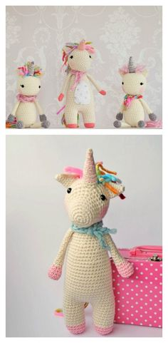 OMG, this is the best amigurumi unicorn I've ever seen. I have to make this for her. :: Twinkle Toes the Unicorn Free Crochet Pattern
