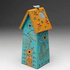 Ceramic House,Home Decor, Nature Inspired, hand made, one of a kind
