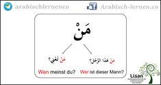 """""""Wer?""""  arabisch-deutsch  arabisch lernen"""
