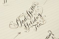 Calligraphy and Lettering by Casey Ligon, via Behance