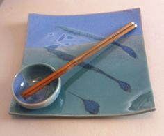 Sushi plates by Brickyard Cove Pottery