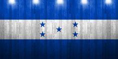 flag of honduras painted on wooden frame
