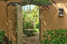 """Today I wanted to tell you more about the revamp of the sunken courtyard. The aim was both to add a little Gallic charm and bring my lovely little """"Drying yard"""" up to a five star entrance for our pretty Apricot Bedroom"""