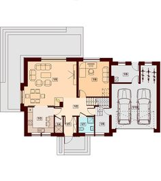 DOM.PL™ - Projekt domu DN KARMELITA BIS 2M CE - DOM PC1-47 - gotowy koszt budowy Micro House, House Plans, Floor Plans, Exterior, How To Plan, Interior Design, House Styles, Modern, Country Houses