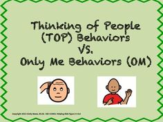 "Perspective Taking Activity: ""Thinking Of People"" Behaviors"