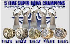 dallas cowboys | Dallas Cowboys 5X SUPER BOWL CHAMPIONS rings 300x187 Please Refer Both ...