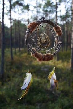 Viking dream catcher from the new series Viking ways. Strong, powerful dream catcher totem. The totem name is LOVELY GIFT. A totem of love stronger,