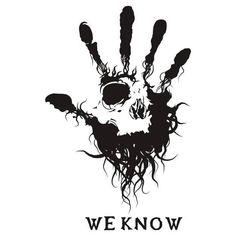 We know (Dark Brotherhood from Skyrim) Elder Scrolls Skyrim, Elder Scrolls Online, Rauch Tattoo, Skyrim Tattoo, Scroll Tattoos, Gamer Tattoos, Dark Brotherhood, Totenkopf Tattoos, Tatoo Henna
