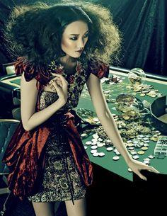 High fashion casino shoot