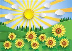Sunflower and sun with forest vector - https://www.welovesolo.com/sunflower-and-sun-with-forest-vector/?utm_source=PN&utm_medium=welovesolo59%40gmail.com&utm_campaign=SNAP%2Bfrom%2BWeLoveSoLo