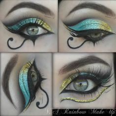 Egyptian Make Up By Vanessa A ❤ liked on Polyvore featuring beauty products, makeup, eye makeup and eyes