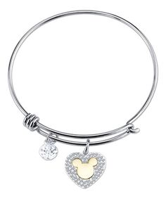 Another great find on #zulily! Crystal & Sterling Silver 'My Heart Belongs to You' Bangle #zulilyfinds