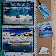 Hubbar Glacier Cruise Scrapbook Pages, Beach Scrapbook Layouts, Vacation Scrapbook, School Scrapbook, Scrapbook Sketches, Scrapbooking Layouts, Panama Cruise, Yukon Gold, Alaskan Cruise