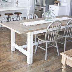 DIY Farmhouse Table And Bench Dining Room TableFarmhouse FurnitureDining