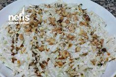 Enfes Kabaklı Erişte Salatası (Çok pratik) Tarifi nasıl yapılır? bu tarifin resimli anlatımı ve deneyenlerin fotoğrafları burada. Yazar: Elif Doğan Turkish Salad, Snack Recipes, Snacks, Salads, Grains, Food, Snack Mix Recipes, Appetizer Recipes, Appetizers