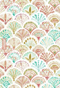 What the shell! This mermaid print is the shelliest one thus far. Sand dollars, clam shells and shells I just made up appear in a seashell summer boho background decorative fashion. I am a shell out and am completely OK with it. Textile Pattern Design, Surface Pattern Design, Textile Patterns, Pattern Art, Print Patterns, Vector Pattern, Of Wallpaper, Pattern Wallpaper, Wallpaper Backgrounds