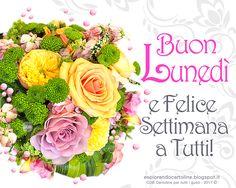 CDB CARTOLINE Compleanno per Tutti i Gusti! : Cartolina -  Buon Lunedì e Felice Settimana a Tutt...