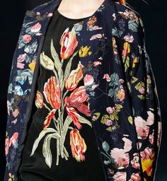 Dries van Noten Spring 2014 Tulip Still Life Embroidery and Print
