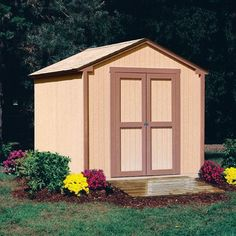 Buy the Handy Home Without Floor Direct. Shop for the Handy Home Without Floor Marco Kingston - X Outdoor Wood Storage Shed and save. Wooden Storage Sheds, Wooden Sheds, Built In Storage, Storage Building Kits, Storage Shed Kits, Storage Shed Designs Ideas, 8x8 Shed, Garbage Shed, Wood Shed Plans