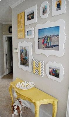 Family Picture Gallery Wall questions - Tips and Tricks to creating a bright, and happy family gallery wall without using nails. Family Pictures On Wall, Family Photos, Hang Pictures, Owl Pictures, Arrange Pictures, Hallway Pictures, Beach Pictures, Wall Photos, Pretty Pictures
