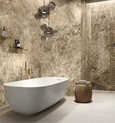 LUXUSNÁ KÚPEĽŇA - Exkluzívne kúpeľne v štýle glamour / BENEVA Italian Marble, Marble Effect, White Bodies, Wall Tiles, Stoneware, Tile Floor, Glamour, Flooring, Bathroom