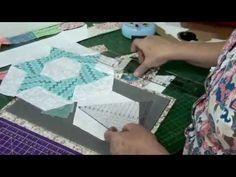 Tia Lili Patchwork: cortando hexágonos perfeitos sem molde! - YouTube
