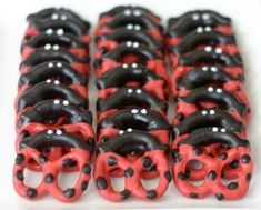Ladybug pretzels by mfig28