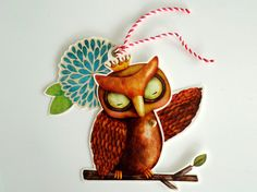 Owl King MOVEABLE BOOKMARK