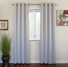 "NIM Textile Grommet Curtains Thermal Insulated Blackout Drapes - Sofiter Collection 110""W x 84""L, 2-Panels Set, Beige: Amazon.ca: Home & Kitchen"