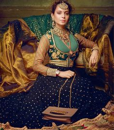 Kangana Ranaut on Outfit - Handbag - Rings - Jewelry - Heritage Jewelry by Sabyasachi… Indian Salwar Kameez, Churidar, Phillip Lim, Indian Formal Dresses, Tom Ford, Jimmy Choo, Valentino, Anarkali Dress, Anarkali Suits