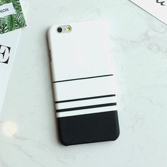 Zebra Stripe Case For iphone 6 Case Hard White Black Blue Cover Case for iPhone 6S 6 Plus 5 5S Protect Phone Cases Coque Capa #Iphone5s #Iphone5Cases